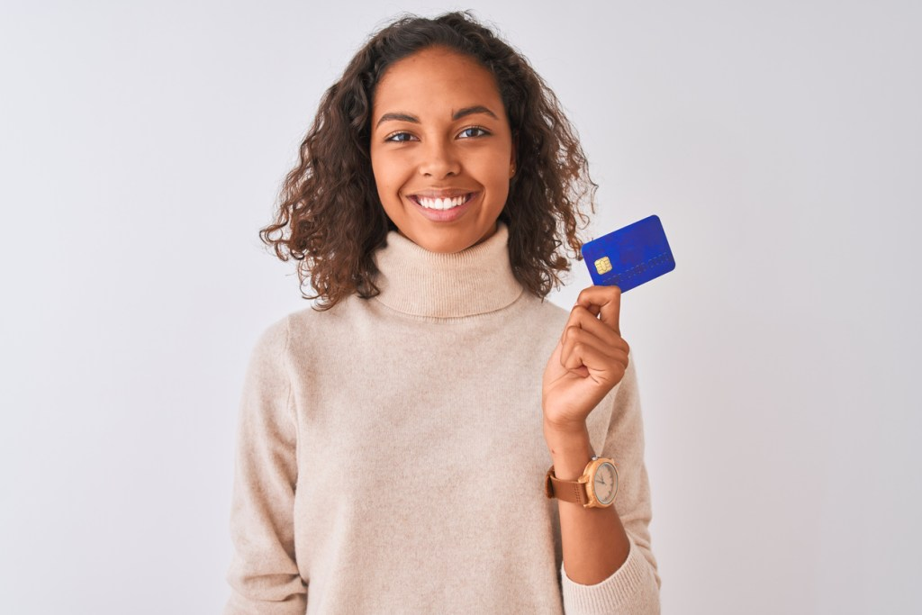 How does payment processing work? The parent of a pediatric physical therapy patient ready to pay for appointment and treatments with a credit card.